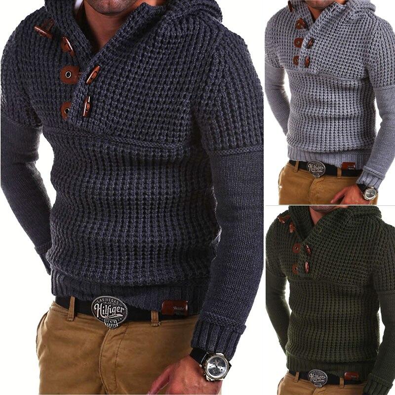 2018 suéter de lana para hombre jersey de manga larga con media cremallera Jersey de punto de Cachemira de invierno Outerwears para hombre M-XXXL