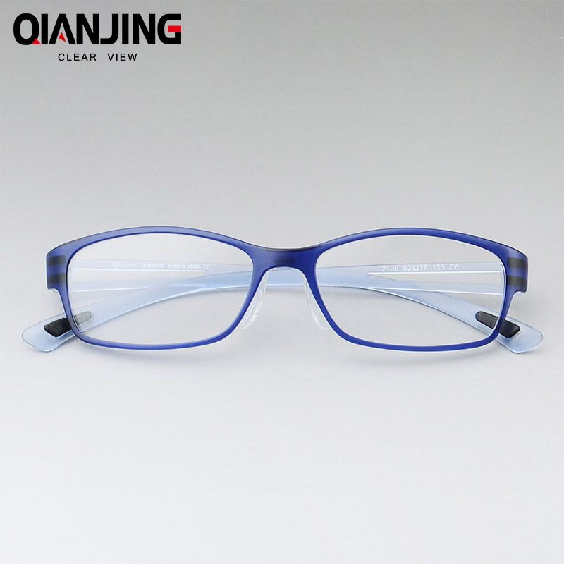 Apparel Accessories Practical Shauna Carbon Fiber Decoration Tr90 Eyeglasses Prescription Frame Men Resin Lens Ultralight Square Optical Glasses Myopia