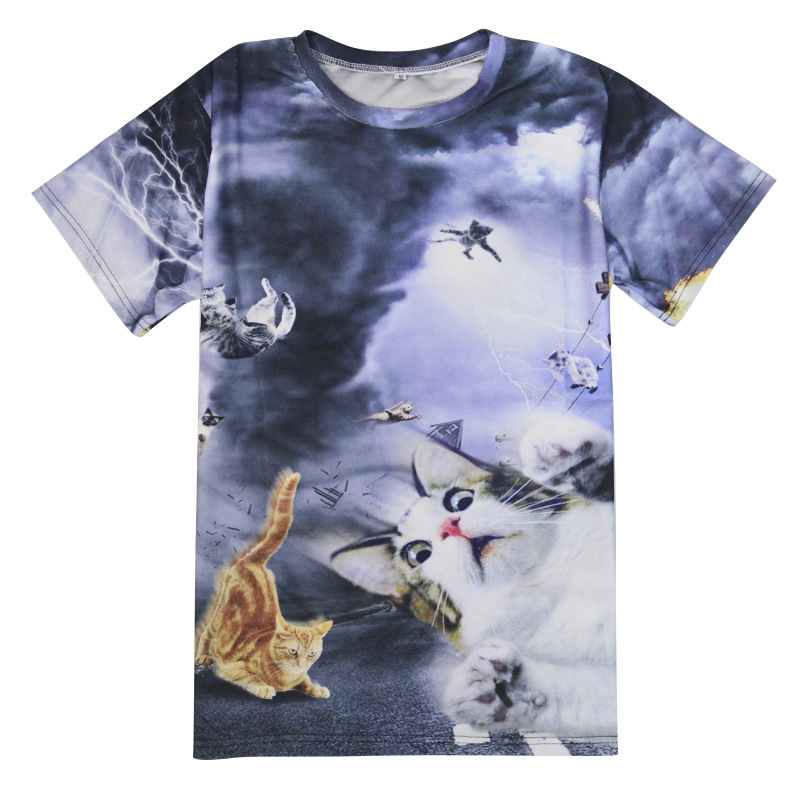 Couple wear shirts brand new catnado full print 3d t shirt for Full t shirt printing