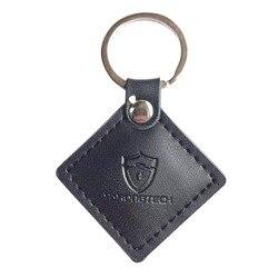 5 stücke 125 khz RFID EM4100 EM Marine Braun Leder Keyfobs Tokey tag