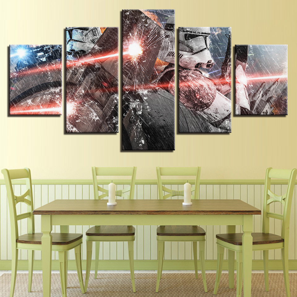 Canvas Wall Art Home Decor Painting Poster 5 Panel Movie Star Wars ...