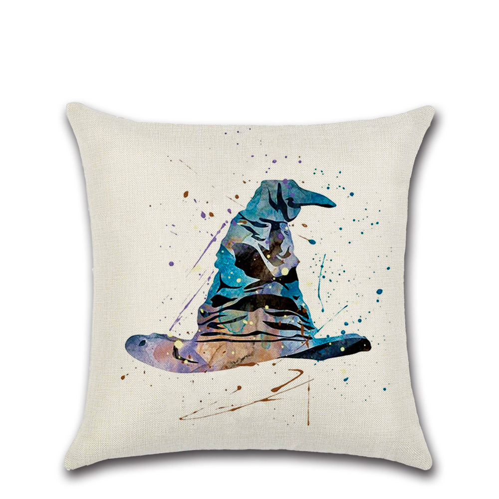 Harry Potter Cushion Cover Goblet of Fire The Deathly Hallows pillow case decorations for home seat chair sofa house Kids gift