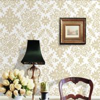 High Grade Wallpaper Damascus Luxury European Wall Murals Gold Flowers Wall Papers For Living Room Bedroom