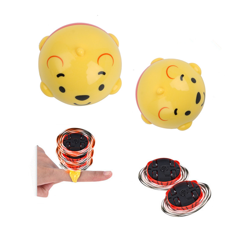 Disney Licensed Winnie the Pooth Kids Game Toys Fighting Battle Spinner Gyro Spinning Top Friction Car For Boys Birthday Gift