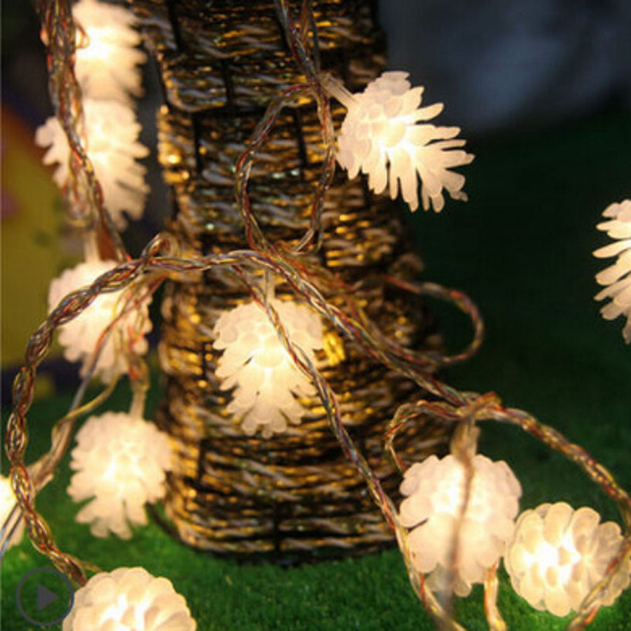 Lights & Lighting Hanmiao 10 Led Garland On Batteries Pine Cone Nuts 4.5x3.5cm Christmas Lights Wedding Festival Tree Decoration Fairy Lights 25 Relieving Heat And Thirst.
