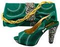 Sapatas de Harmonização italianas e Saco Set Wedding Africano Sapatas de Harmonização e Sacos de Sapato e Conjuntos De Saco para o Casamento WUW1-56