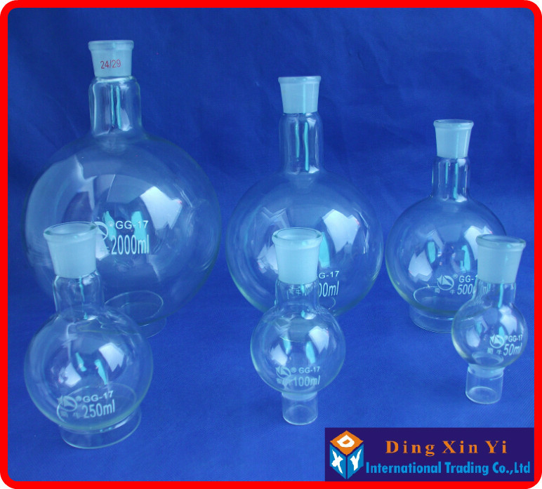 50/100/250/500/1000/2000ml 24/29 Single Neck Round-bottom Flask,Boiling Flask Round Bottom,short Neck Standard Ground Mouth