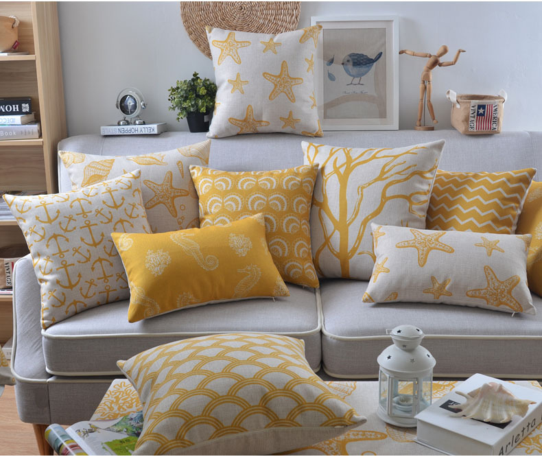 Yellow Decorative Pillows Case Geometric Cushion Cover Home Decor Inspiration Yellow Decorative Pillows Couch