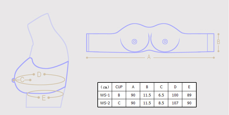 WS-2 Top quality silicone breast forms enhancer artificial breasts crossdress invisible bra movie props femskin.