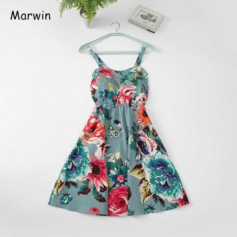 Marwin 2019 nuevo vestido de verano con volantes y hombros descubiertos con tiras blancas para mujer vestido de fiesta bohemio de gasa para playa