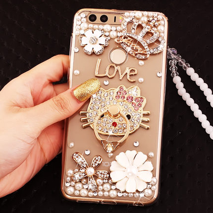 size 40 4928c 840d8 US $7.64 15% OFF 2017 New Luxury Girl Woman Lady Style Soft TPU Back Cover  + 3D Diamond Rhinestone Phone Case For Huawei P9 Lite / P9 / P9 Plus-in ...