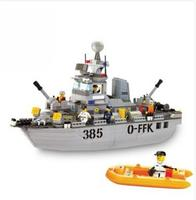 B0125 Army Navy Military Destroyer Ship Warship 3D Model DIY Building Blocks Bricks Assembly Toy fit Legoings no Box