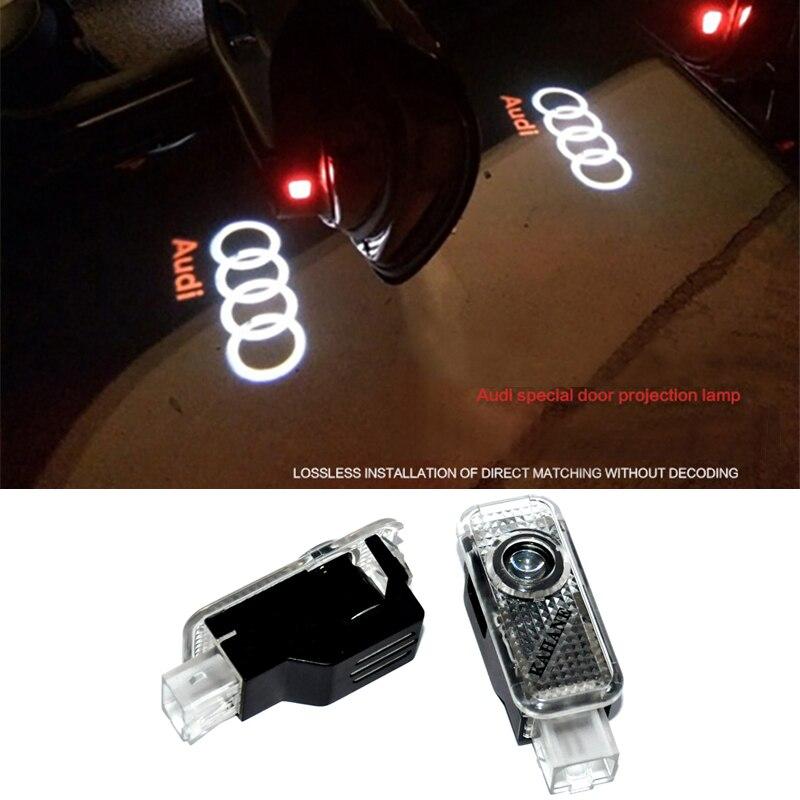 2 X Laser LED Door Courtesy projector Shadow Light For AUDI A3 A4 B5 B6 B7