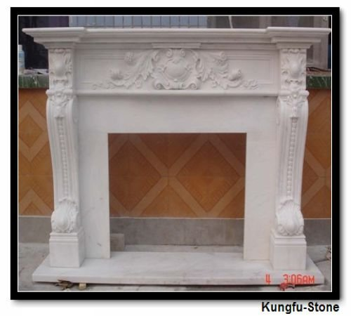 factory supply natural stone marble fireplace mantel+good quality+style designer+fine shipping cost