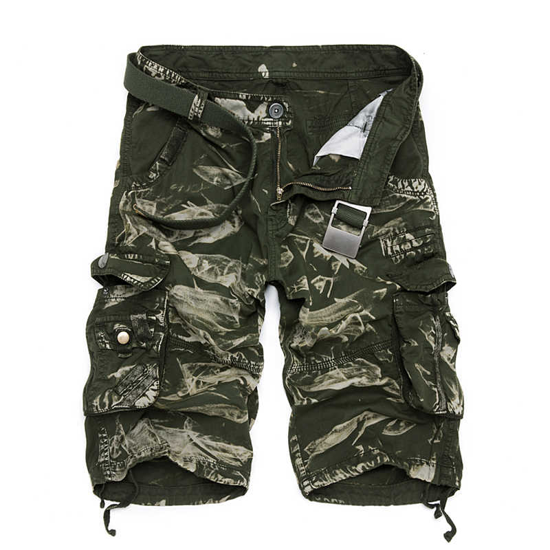 2018 Erkekler Yaz kamuflaj ordu Kargo Şort rahat erkek Kısa erkek Şort erkek Çok Cep kısa pantolon On renk