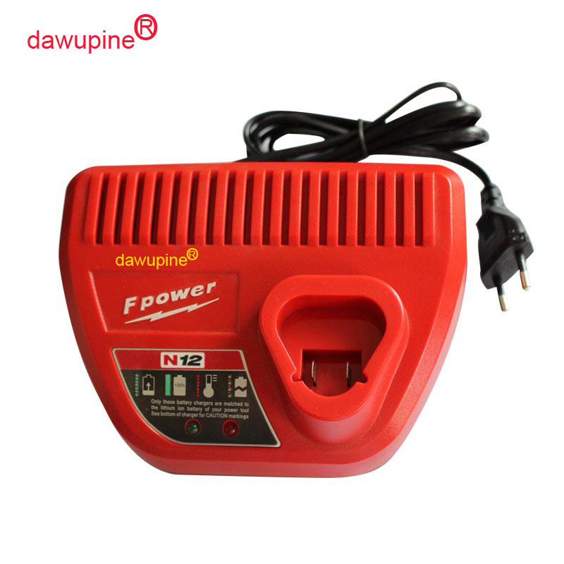 dawupine N12 M12-18C Li-ion Battery Charger For Milwaukee 10.8V 12V 18V M12 M18 48 - 11 - 24xx Series Lithium-ion Battery satlink 6980 satlink ws 6980 dvb s2 c dvb t2 combo optical detection spectrum satellite finder meter vs satlink combo finder
