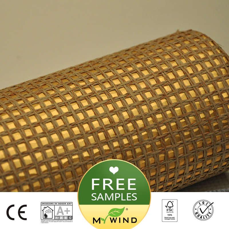 2019 MY WIND Golden Thread Luxury Wallpaper Paper Weave Grasscloth 3D Wallpapers Designs European Vintage Wall Papers Bedroom