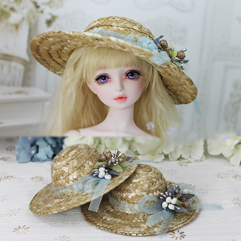 Natrual SD BJD Doll Pastoralism Style Pastorale Hat For 1/3 1/4 SD MSD BJD Doll Accessories Headdress Toys For Girls Kids Gifts new bjd doll jeans lace dress for bjd doll 1 6yosd 1 4 msd 1 3 sd10 sd13 sd16 ip eid luts dod sd doll clothes cwb21
