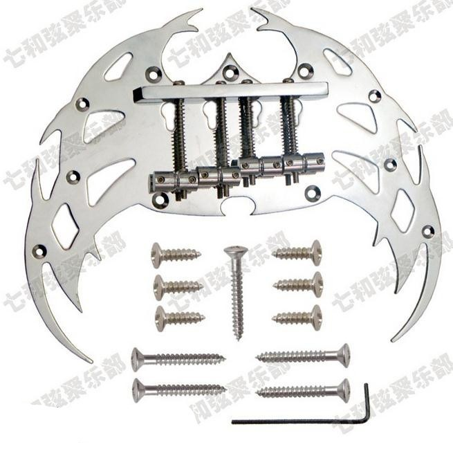 4 strings Tremolo bass Bridge Silver guitar strings Electric bass guitar Bridge guitar parts Musical instrument accessories [zob] supply of new original omron safety door switch d4bs 35fs d4ns 4af substitute 2pcs lot