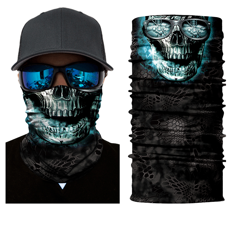 BJMOTO Halloween Scary Mask Festival Skull Masks Skeleton Outdoor Motorcycle Bicycle Multi Masks Scarf Half Face Mask Cap Neck yifei halloween skull skeleton mask motorcycle bicycle multi function scarf half face mask cap neck ghost scarf ski mask outdoor