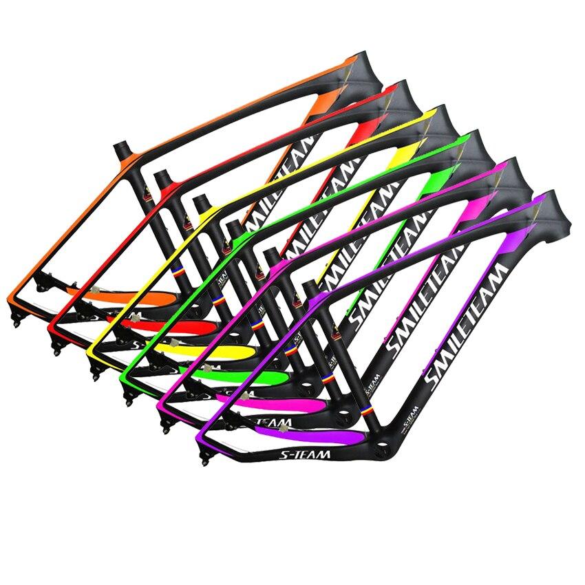 SmileTeam T800 Carbon MTB Frame Custom Logo 29er MTB Carbon Frame 29 Carbon Mountain Bike Frame 142*12 or 135*9mm Bicycle Frame