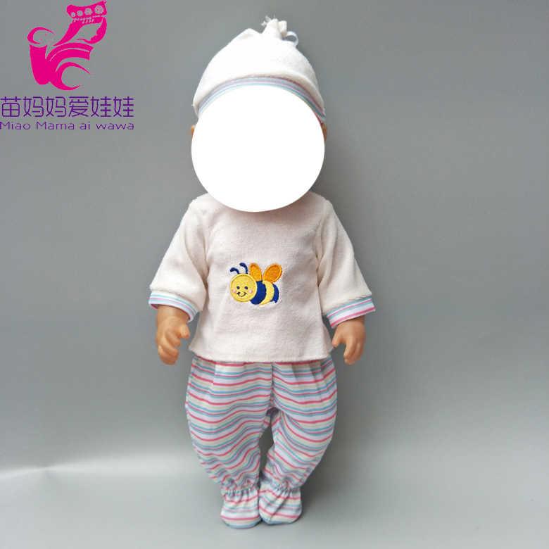 """18 polegada bonecas roupas conjuntos de pijama de inverno pele roxa para 18 """"43 centímetros renascer baby doll roupas grossas de inverno menina brinquedos do bebê presentes"""