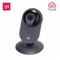 Yi Home Camera 720P Black Home Security Night Vision Video Monitor IP Wireless Network Surveillance With