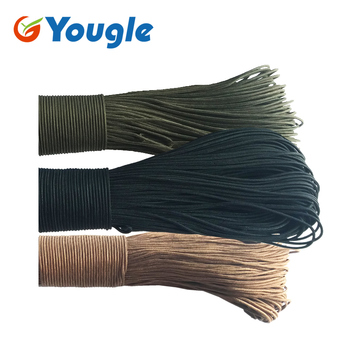100M 3 Strand Paracord Parachute Cord Lanyard Mil Spec Type III 3 Core Free Shipping