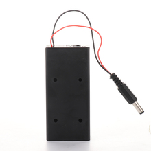 2 Slots DIY Battery Storage Box with DC Plug ON/Off Switch 18650 Case Holder