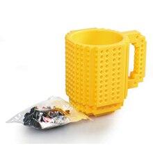 Nueva Moda Creativa Drinkware Tazas Taza de Café DIY Puzzle de Bloques Bloques de Construcción Taza 350 ml Taza de Agua de La Personalidad