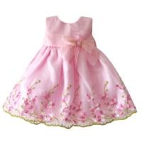Baby Girl Dress Flower Elegant Dresses For Girls Pink Princess Toddler Dress Infant Clothing Birthday Wedding