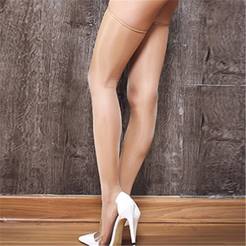 Summer Ultra-thin Sexy Stockings Vintage Oil Shiny Knee High Long Stockings Transparent Women Sexy Lingerie Medias For Garters