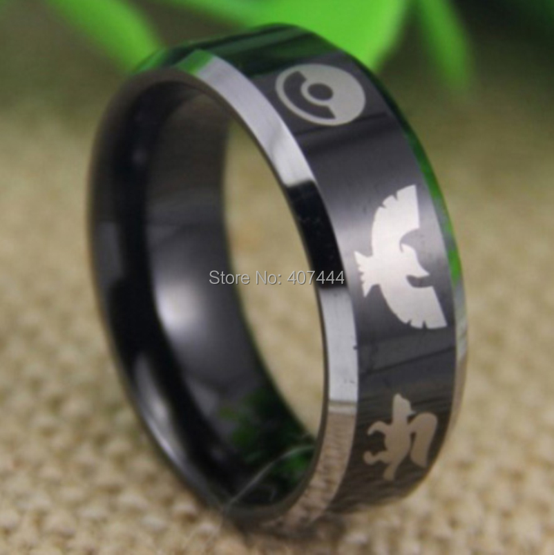 Free Shipping USA UK Canada Russia Brazil Hot Sales 8mm 18K Gold Dome Legend Of Zelda Lord Mens Tungsten Carbide Wedding Ring