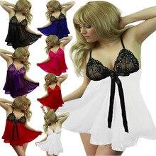 Дамы Сексуальная Ночная Рубашка Женская Ночная Рубашка 7 Размер XL, XXL, XXXL Ансамбль Белья Sexy Эротическое Пижамы Женщины Сексуальное Женское Белье платье * Q