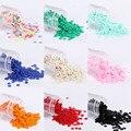 2000 unids/pack 4mm Colores Sólidos lentejuelas plana redonda PVC costura de lentejuelas sueltas artesanía, accesorios de bordado de tela para mujer