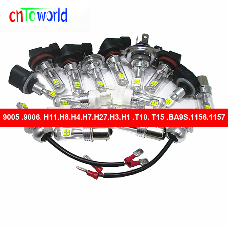 2pcs H4 9005 HB3 9006 HB4 H1 H3 H7 H8 H11 40W 8 CREE XBD Chips LED Bulbs 6000K White Car Fog Lights Lamps DRL Headlight 12V 24V auxmart auto led h1 h3 9005 9006 h7 led headlight car lights 72w 6500k h8 led h11 fog lamps cob chips led h4 car bulbs t5 series