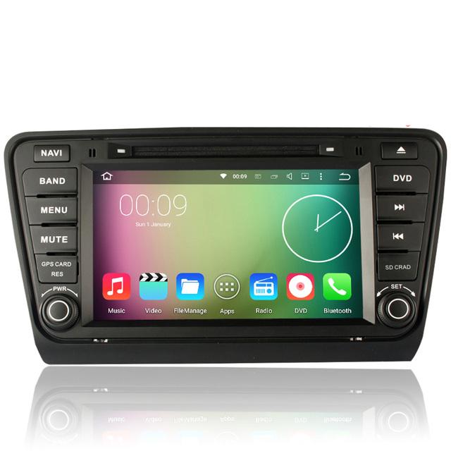 """8 """"Pantalla Táctil de HD 1024*600 Android 5.1.1 Coches Reproductor de DVD de Navegación GPS sistema De VW Skoda Octavia III 2014 2015 A7 Puede Bus RDS"""