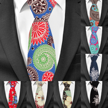 Fashion Print Cotton Neck Ties for Men Floral Mens Suits Tie Gravatas Causal Neckties For Business Wedding 6cm Width Men Ties fashion small lattice pattern 6cm width red tie for men