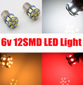 Free Shipping, 2pcs 1156 382 6V 12 SMD LED BA15S Reverse Rear Brake Tail Stop Turn Singal CAR Light Bulb white/amber/red