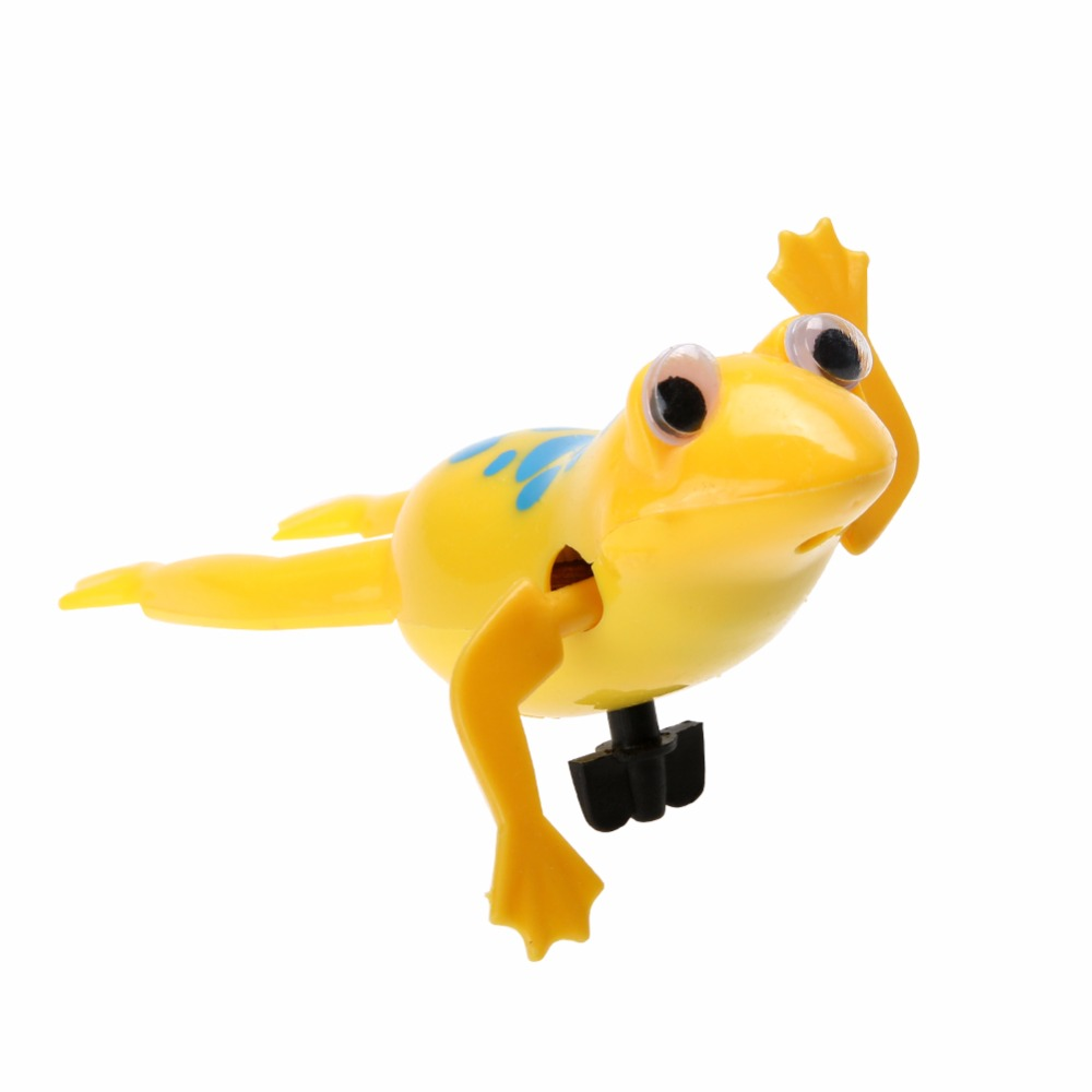 Swimming Frog Baby Bath Toy Cute Battery Operated Pool Bath Tub Toy Wind-Up Swim Frogs Kids Bathing Clockwork Dabbling Toy