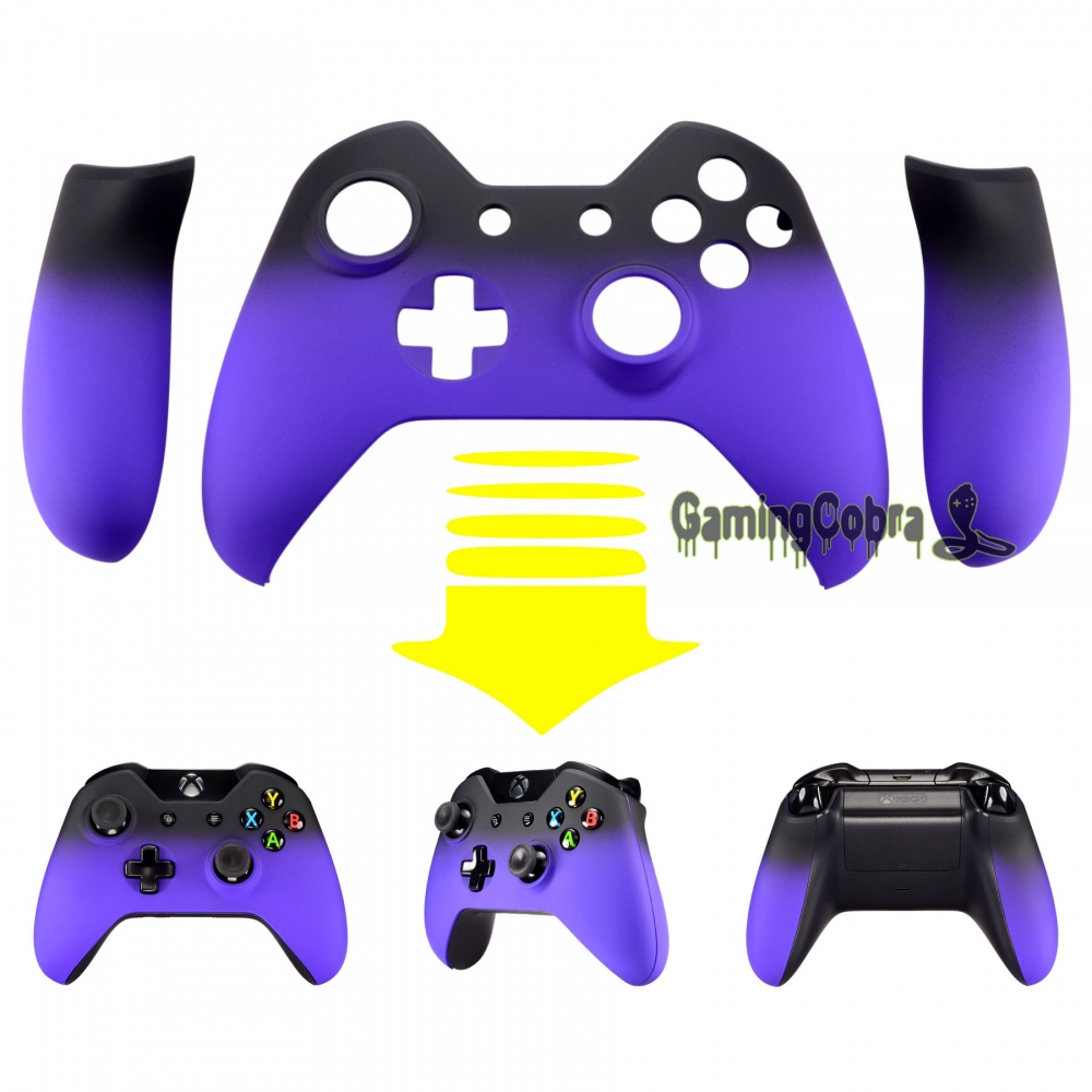 Front Housing Shell Faceplate & Side Rails for Xbox One Controller Shadow Purple