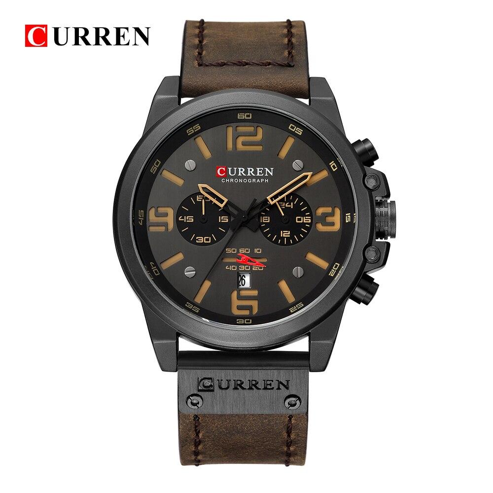 Relogio Masculino Mens Watches Top Brand Luxury Men Military Sport Wristwatch Leather Quartz Watch erkek saat curren 8314 stylish wrist watch for men