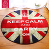 Round British style Union Jack carpet living room coffee table rug sofa blanket slip circle rugs and carpets for home washing