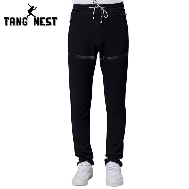 TANGNEST Men's Casual New Arrival Korean Style Loose Pants Mid-waist Fashion Full-length Spring & Autumn Pants MKY254