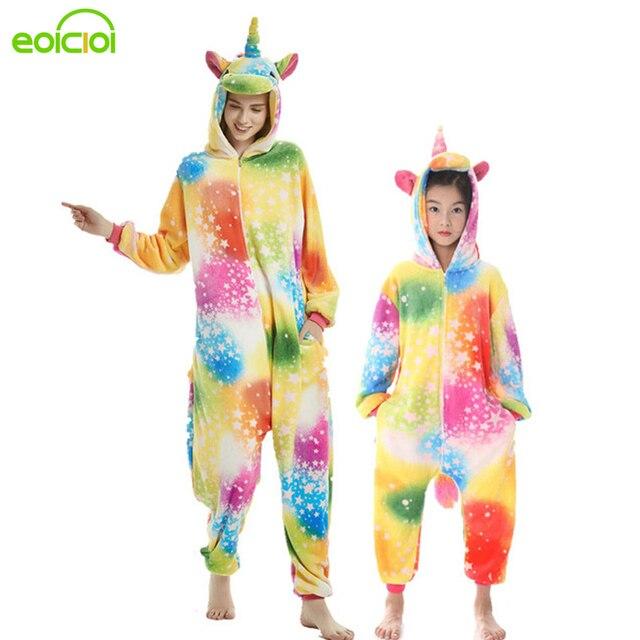 24 חדש משפחת התאמת פיג אמא ילדים Cartoon פגסוס Unicorn סטיץ פיג 'מה Onesies חמוד סלעית משפחת התאמת תלבושות