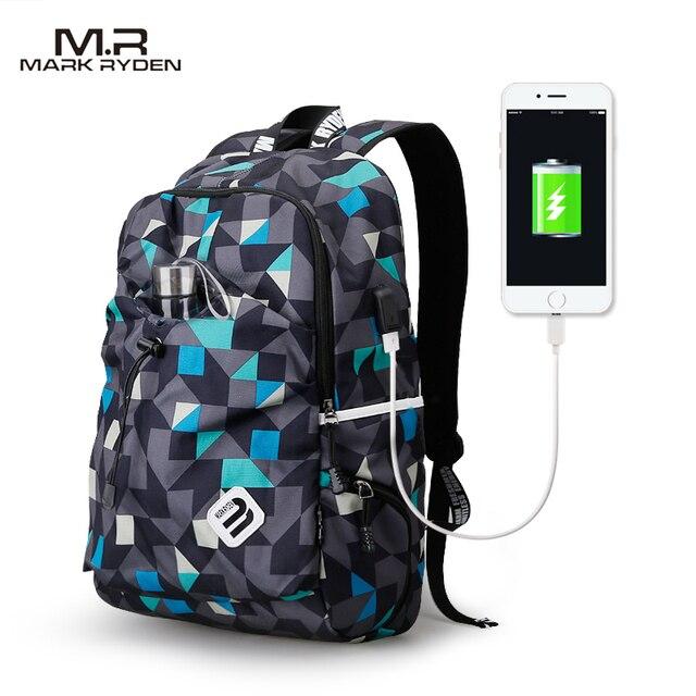 Mark Ryden рюкзак студенческий водостойкий нейлоновый рюкзак мужской Материал Escolar Mochila качественная брендовая сумка для ноутбука школьный рюкзак