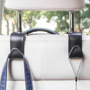 Image 4 - 2個ユニバーサルカーシートバックフックハンガー自動食料品トランクコート用財布バッグ雑貨フックヘッドレストマウント収納