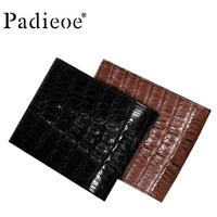 2018 luxury brand card clip casual men's wallet leather men's women's wallet real crocodile leather leather handbag men's bag