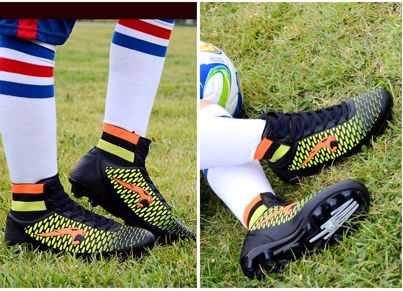 High Ankle Football Boots Kids Soccer Cleats Teenagers Outdoor AG Training Sneakers Botines Botas Futbol 2017 Superfly Original 8