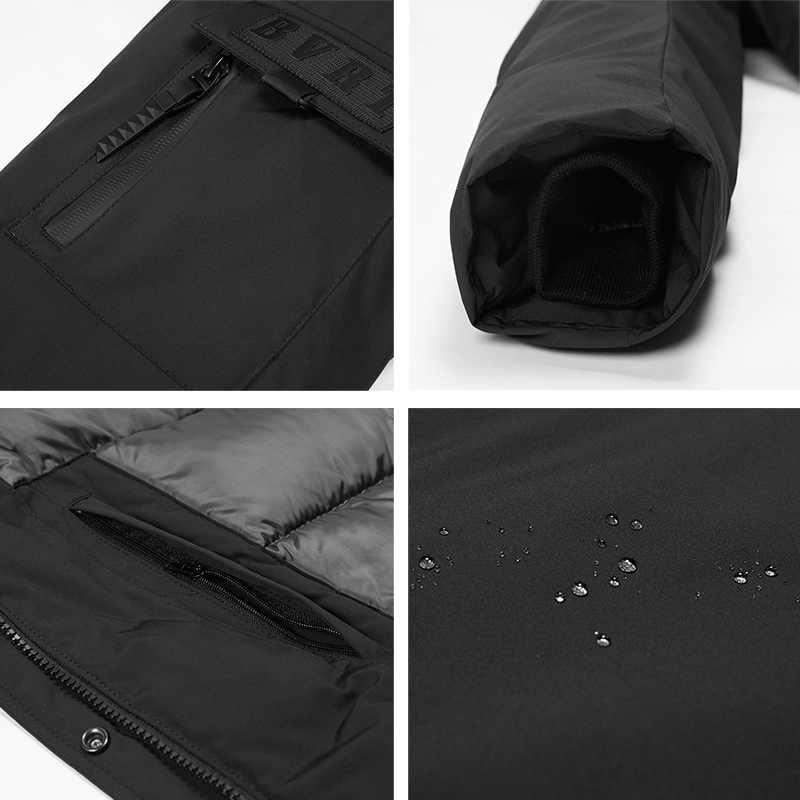 ICEbear 2019 nuevo abrigo de invierno de alta calidad abrigo de moda simple gran bolsillo diseño de hombre caliente con capucha marca moda parkas MWD18718D